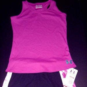 Girl's Youth Large UnderArmour Shirt & Shorts